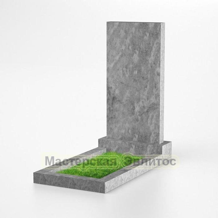 Прямоугольный памятник из мрамора №101