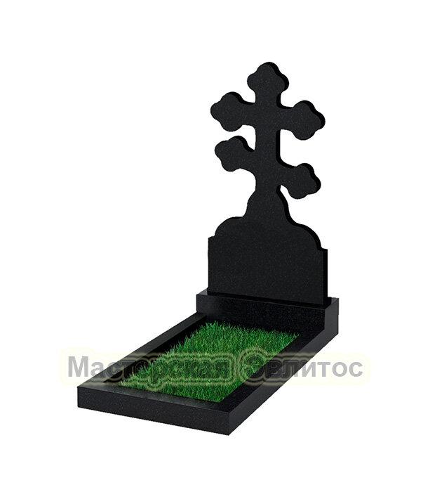"""Крест класса """"эконом"""" №114 (черный гранит Карелия)"""
