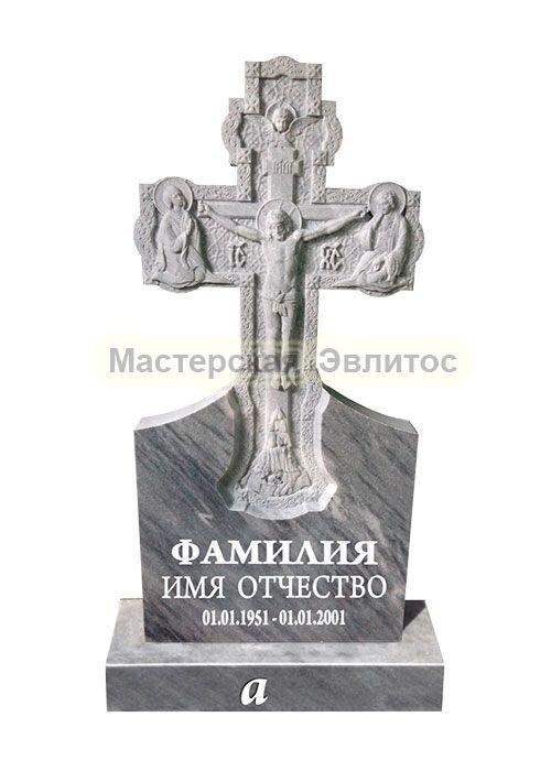 Фрезерованный памятник из мрамора Крест 1А