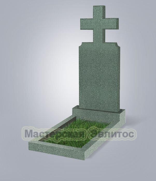 Памятник №100 (зеленый гранит)