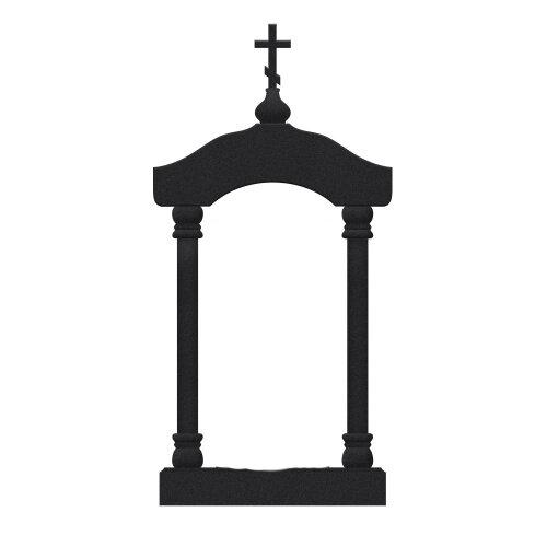 Памятник №24 арка (черный гранит) в Томске