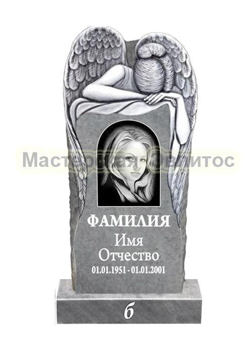 Памятник из мрамора Ангел 10Б (фрезерованный) в Томске