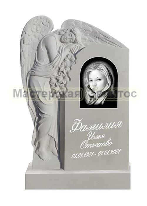 Памятник из мрамора Ангел 14 (фрезерованный) в Томске