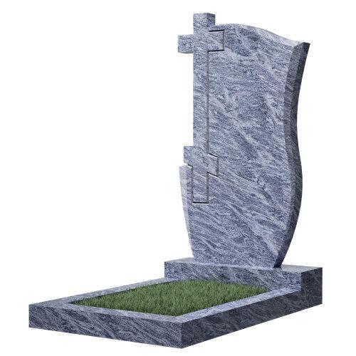 """Фигурный памятник класса """"эконом"""" №74 (темно-серый гранит)"""